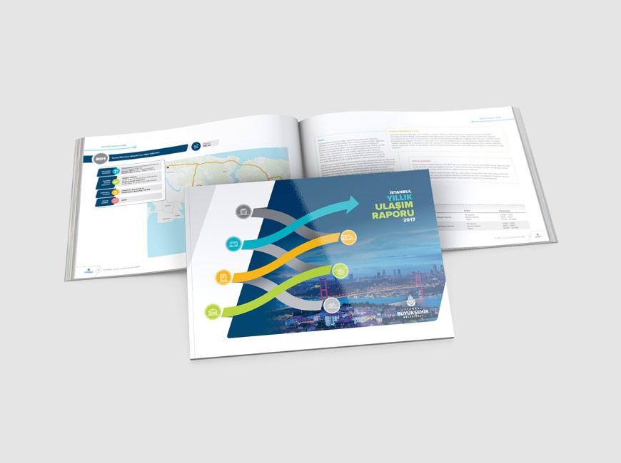 İstanbul Yıllık Ulaşım Raporu Katalog Tasarımı