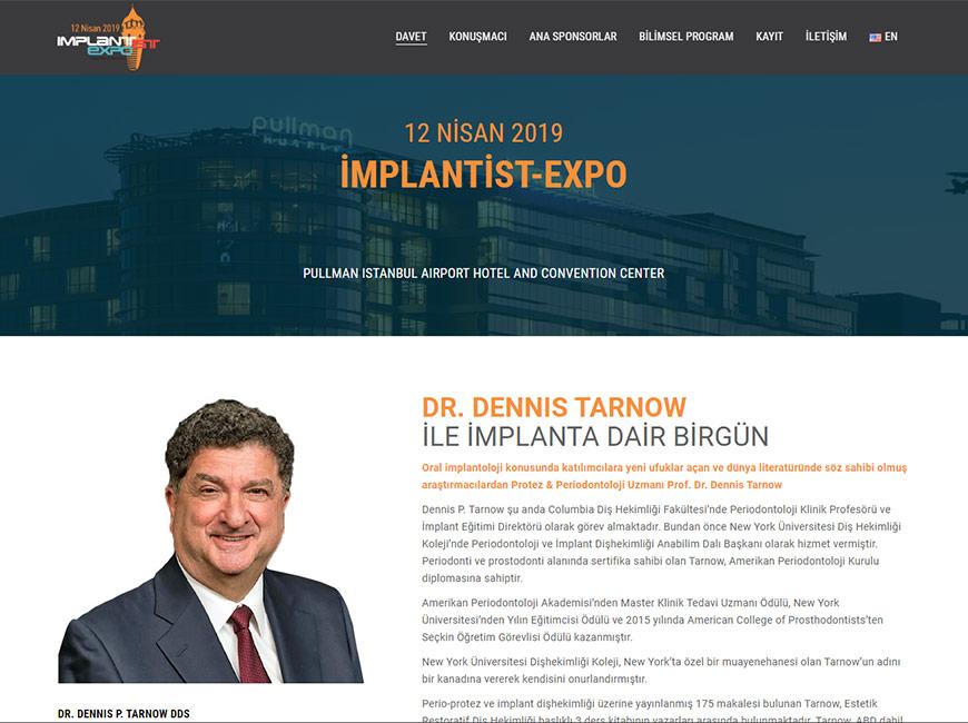 İMPLANTİST-EXPO 2019 Web Site Tasarımı