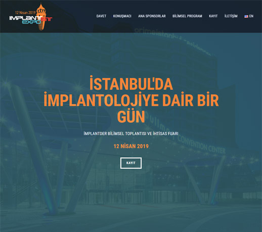 İMPLANTİST-EXPO 2019 Web Site Tasarımı