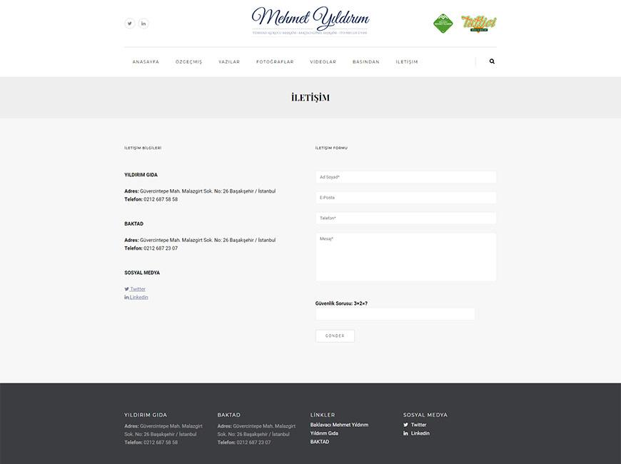 Mehmet Yıldırım Web Site Tasarımı