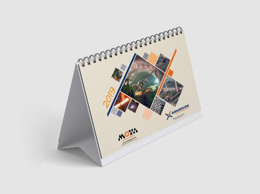 Moya Grup 2019 Masa Takvimi Tasarımı