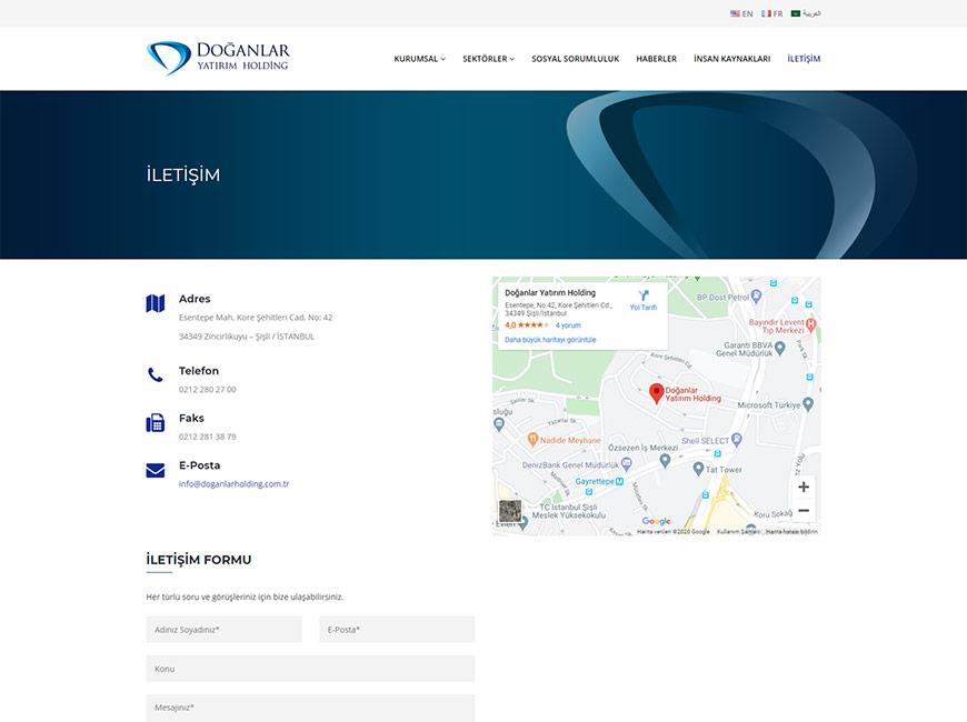 Doğanlar Yatırım Holding Web Site Tasarımı