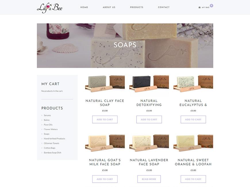 Lily & Bee E-Ticaret Sitesi Tasarımı