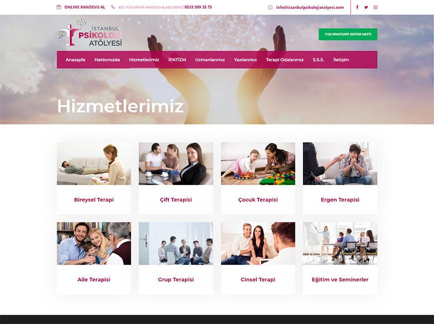 İstanbul Psikoloji Atölyesi Web Site Tasarımı