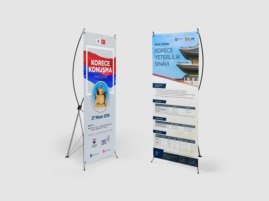 Kore Cumhuriyeti İstanbul Başkonsolosluğu X Banner Tasarımı