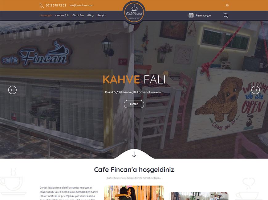 Cafe Fincan Web Site Tasarımı title=