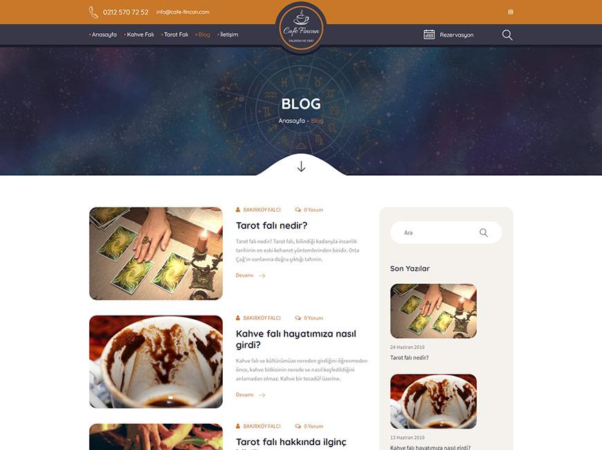 Cafe Fincan Web Site Tasarımı
