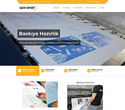 Şan Ofset Matbaa Web Site Tasarımı