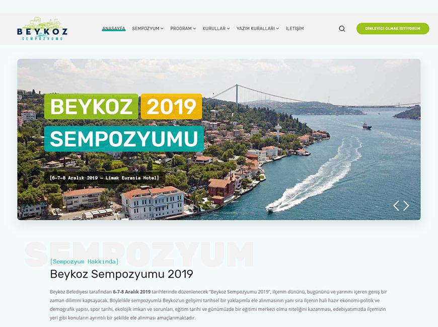 Beykoz Sempozyumu Web Site Tasarımı