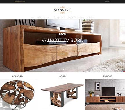 Massivt Mobilya Web Site Tasarımı
