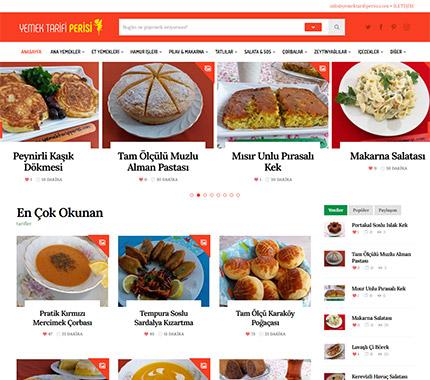 Yemek Tarifi Perisi Web Site Tasarımı