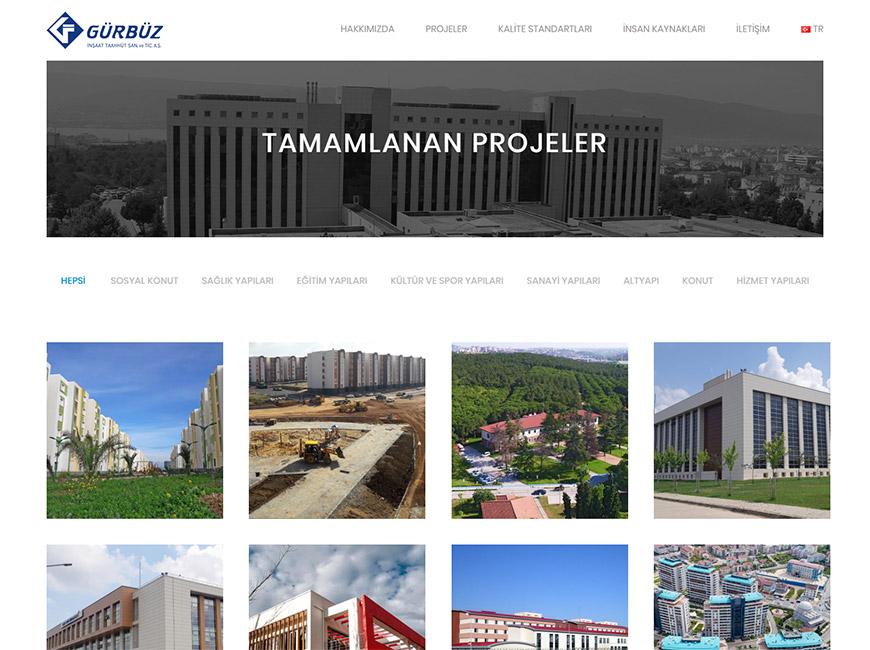 Gürbüz İnşaat Web Site Tasarımı