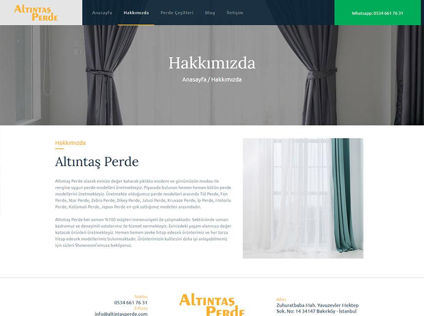 Altıntaş Perde Web Site Tasarımı