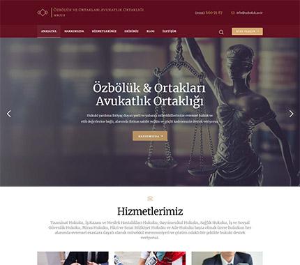 Özbölük Hukuk Web Site Tasarımı