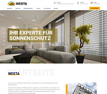 WEXTA Web Site Tasarımı