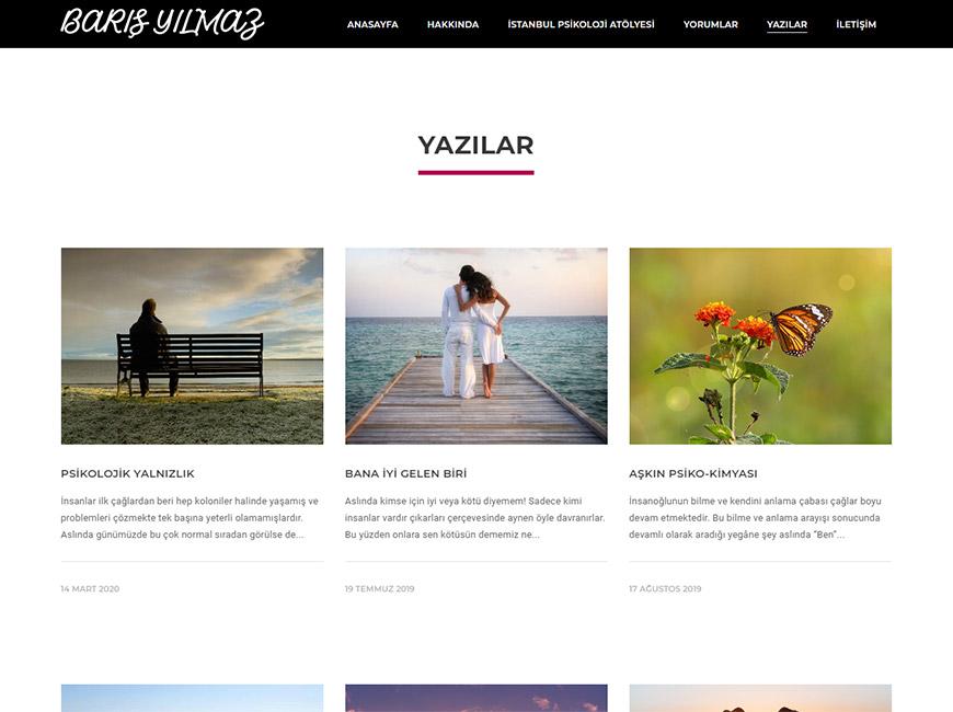 Psikolog Barış Yılmaz Web Site Tasarımı