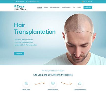 Crea Hair Clinic Web Site Tasarımı