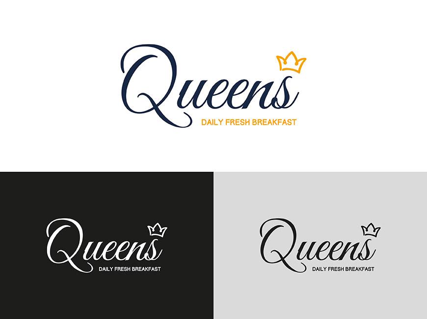 Queens Breakfast Logo Tasarımı
