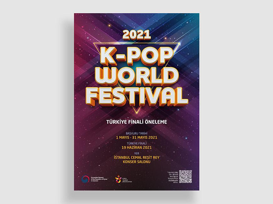 2021 K-Pop World Festival Afiş Tasarımı
