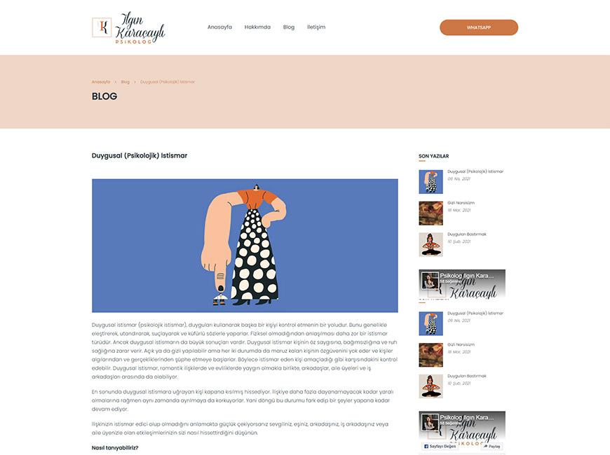 Ilgın Karaçaylı Web Site Tasarımı