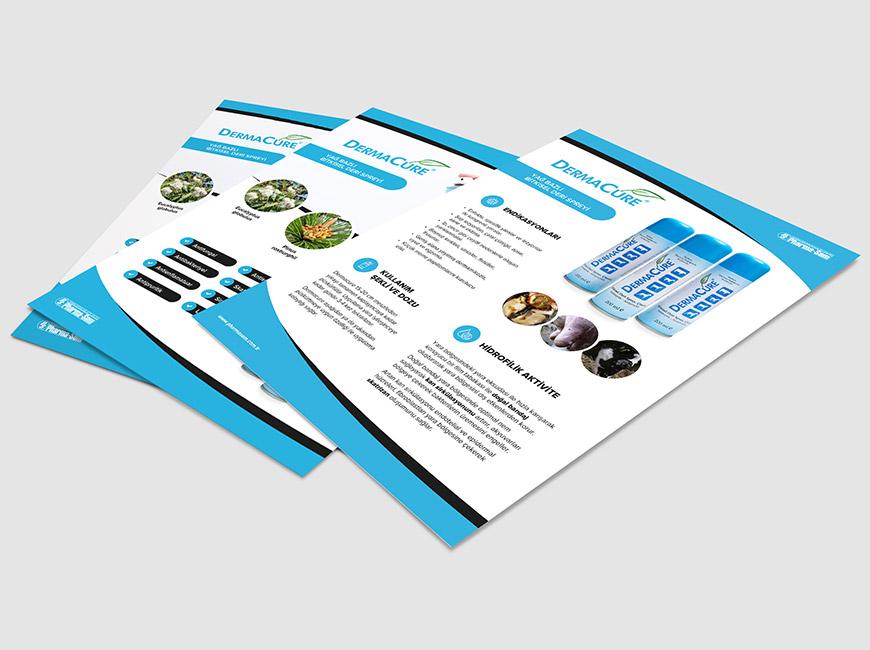 Pharma-Sem - DermaCure Flyer Tasarımı