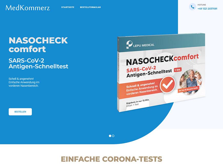 MedKommerz Web Site Tasarımı