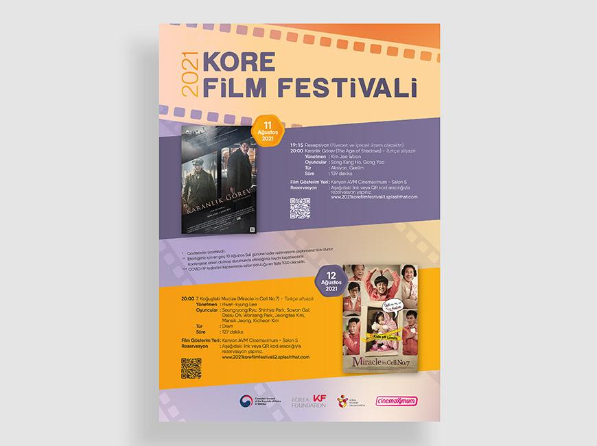 2021 Kore Film Festivali Afiş Tasarımı