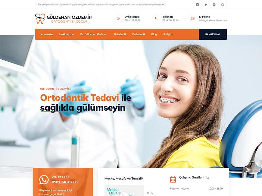 Dr. Güldehan Özdemir Diş Kliniği Web Site Tasarımı