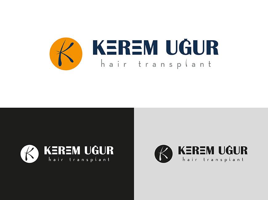 Kerem Uğur - Hair Transplant Logo Tasarımı