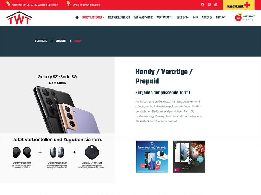 TWT Digital E-Ticaret Sitesi Tasarımı